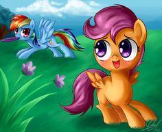 scootaloo and rainbow dash  My Little Pony Friendship Is Magic Nerd mlp fim
