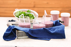 Looking for a healthy, quick option this spring? Try a Berries and Greens smoothie: