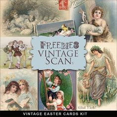 Freebies Tarjetas de Pascua del vintage
