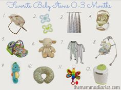 Favorite Baby Items 0-3 Months