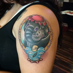 Dumbo Disney tattoo by Matt Robinson Anchor Tattoo Vacaville CA