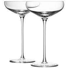 Such beautiful glasses. LSA Wine Champagne Saucer