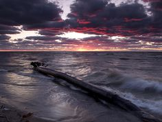 """Drama Over Lake Erie"" - This was taken at Headlands Beach on Lake Erie. I was moved by the dramatic look of the sky. It only lasted a moment. But in that moment I was reminded of the sheer beauty that you can find in this world if you just look."