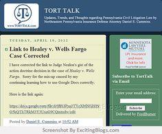 TORT TALK - Click to visit blog:  http://1.33x.us/vHmm3K
