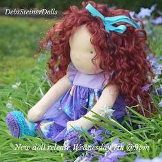 New doll release this Wednesday evening at 9pm . Link in bio  #dollstagram #dollmaker #doll #steinerdoll #waldorfdoll #debssteinerdolls #buysmall #buyhandmade #shopsmall #handmadewithlove #handmadedoll