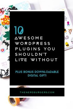 10 awesome WordPress plugins you shouldn't live without: Here's my list of 10 awesome FREE WordPress plugins I use everyday for my handmade business and couldn't live without + BONUS 5 powerful plugins you should know about (and use!) Discover what they are so you can use them too. Click on to discover the 15 WordPress plugins I love!
