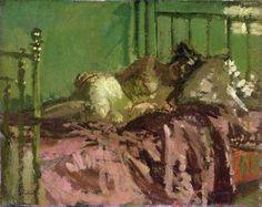 'Reclining Nude (Le lit de cuivre)' (c.1906) by British painter Walter Richard Sickert (1860-1942). Oil on canvas, 40.9 x 50.9 cm. collection: Royal Albert Memorial Museum. via BBC