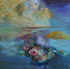 Olivier Masmonteil, Sur les rives d'un monde, 2012, Oil on canvas, 180 x 180 cm, Courtesy Galerie Dukan