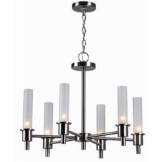 World Imports, Dunwoody 6-Light Satin Nickel Chandelier, WI687302 at The Home Depot - Mobile