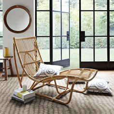 I wish I had room for this in my home.  I also like the French doors. Sol Chaise | Serena & Lily