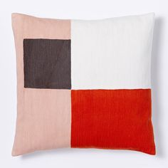 Graphic Patchwork Square Pillow Cover