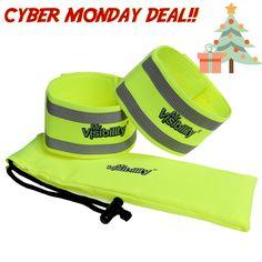 6x Reflective Arm Bands Hi Vis Wrist Strap Ankle Belt Night Running Safety Sport