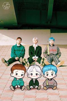 Ideas wallpaper cute exo for 2019 Exo Xiumin, Kpop Exo, Chibi, K Pop, Shinee, Exo Cartoon, Exo Anime, Exo 12, Exo Lockscreen