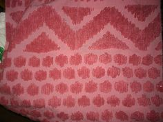 Pink Valentine/Every Day Chenille Fabric/Sewing/Crafts