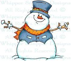 The Perfect Snowman - Snowmen Images - Snowmen - Rubber Stamps - Shop