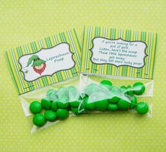 Love these printable labels for Leprechaun poop!