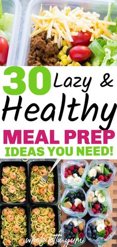 30 easy meal prep recipes that are healthy and make weight loss easier. Healthy meal prep for the week for beginners for breakfast, lunch and dinner. meals for beginners 30 Healthy Meal Prep Recipes Weight Loss Meals, Healthy Dinner Recipes For Weight Loss, Easy Healthy Meal Prep, Easy Healthy Recipes, Healthy Drinks, Meal Prep Recipes, Healthy Breakfast For Weight Loss, Healthy Foods, Health Recipes