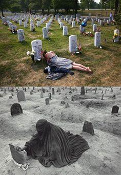 전쟁은 어떠한 이유에서든 슬픔을.. The most moving expression of Grief I have seen. An American and Afghani girl…