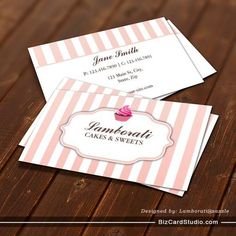 bakery business cards templates free - Google Search