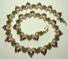 Glowing Garden Pearl Necklace | AllFreeJewelryMaking.com