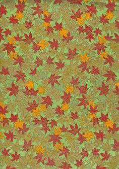 Japanese Yuzen Chiyogami Washi Paper Leaf Design