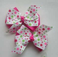 Easter Dots Boutiqe Hair Bow Clip /Ribbon/Flatbacks