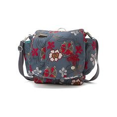 Haiku To Go Convertible (€52) ❤ liked on Polyvore featuring bags, backpacks, river floral print, women's, convertible satchel, flower print backpack, day pack backpack, blue satchel and padded backpack