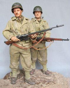 34th Infantry Division BAR Team, Tunisia- April 1943 - by farnhamja - OSW: One Sixth Warrior Forum