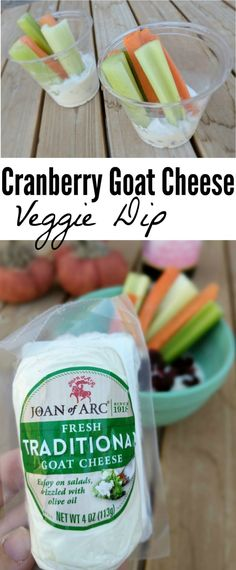 Cranberry Goat Cheese Dip with Veggies Easy Appetizer: The key to a great party appetizer is a simple recipe that looks fancy! This simple Easy Appetizer Recipes, Yummy Appetizers, Appetizers For Party, Party Side Dishes, Goat Cheese Recipes, Summer Recipes, Goats, Dips, Easy Meals