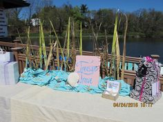 Destination Wedding Blog — Personal Touch Experience bridal shower, under the sea, mermaid, mermaid bride, mermaid bridal shower, under the sea shower for the bride to be, unique shower ideas, best bridal shower, best shower ideas, treasure trove, gift table, decor