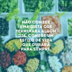 A foto diz tudo. Cute Inspirational Quotes, Life Care, Instagram Blog, Herbalife, Healthy Lifestyle, Vegan Recipes, Fitness Motivation, Food And Drink, Health Fitness