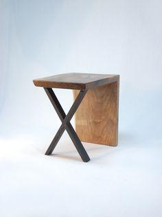 Rx End Table Asymmetric Walnut by JonathanJanuary on Etsy