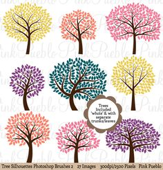 Check out Tree Silhouettes Photoshop Brushes 2 by PinkPueblo on Creative Market