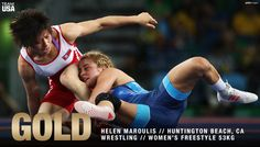U.S. Olympic Team ‏@TeamUSA  Aug 18 CONGRATS, @helen_maroulis! 🇺🇸  She's the first woman to win Olympic #GOLD for @USAWrestling!