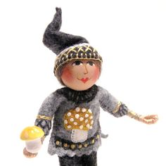 woodland gnome by TwoLeftHands on Etsy