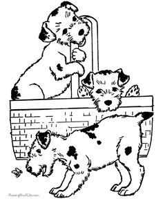dog coloring pages puppies in a basket coloring page featuring hundreds of canine breed coloring pages