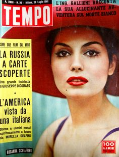 Movie star Rosanna Schiaffino (29th July 1961).
