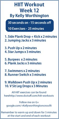 Week 12 of my #HIIT workouts if you want to see all the weeks #workouts please check out this page:  http://www.dsstuff.com/hiit-workouts/   #crossfit
