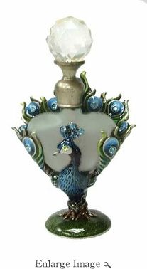 Well Jeweled Peacock Perfume Bottle
