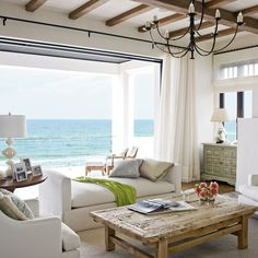 Living Room for Lounging - Mediterranean-Style Houses with Ocean Views…
