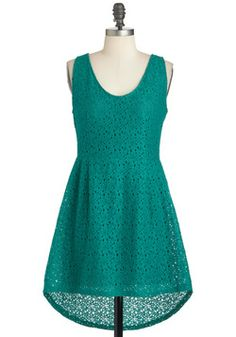 Solid color, but is the texture too much?Clover Joyed Dress, #ModCloth