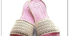 Mom's Spa Slippers Free Pattern   By AnnooCrochet Designs           For Pattern: