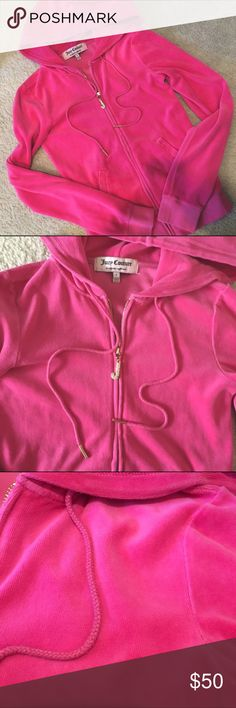 Juicy Couture Zip up Velour Jacket 🍬 Never worn. Size P. Brand: Juicy Couture 🥂 The North Face Jackets & Coats