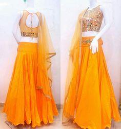 fd2b7b3490 Lehenga Collection, Mirror Work, Silk Lehenga, Simple Outfits, Bollywood  Celebrities, Bridesmaids