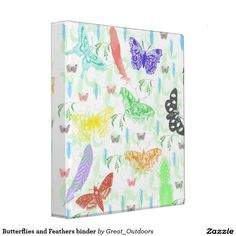 Butterflies and Feathers binder