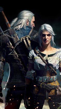 《The Witcher 3 Wild Hunt / Geralt of Rivia and Ciri》 The Witcher 3, The Witcher Wild Hunt, Witcher 3 Art, Witcher 3 Geralt, The Witcher Books, Wallpapers Games, Gaming Wallpapers, Widescreen Wallpaper, Desktop Wallpapers