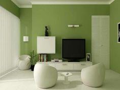 Wandfarbe Bequem Grün Farbideen Wandgestaltung Sessel