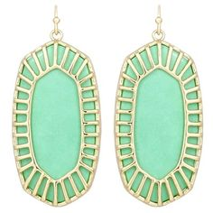 Kendra Scott Delilah Earrings in Mint Seafoam Green Gold Plated Jewelry Box, Jewelery, Silver Jewelry, Jewelry Accessories, Mint Jewelry, Unique Jewelry, Vintage Jewelry, Mint Earrings, Kendra Scott Jewelry