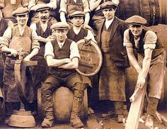 Workers at Murray's Cooperage, Craigmillar  -  Photo probably taken around early 1930s
