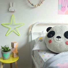 Panda Bear • Pillow • Kids Room • Ladedah Kids http://ladedahkids.com.au
